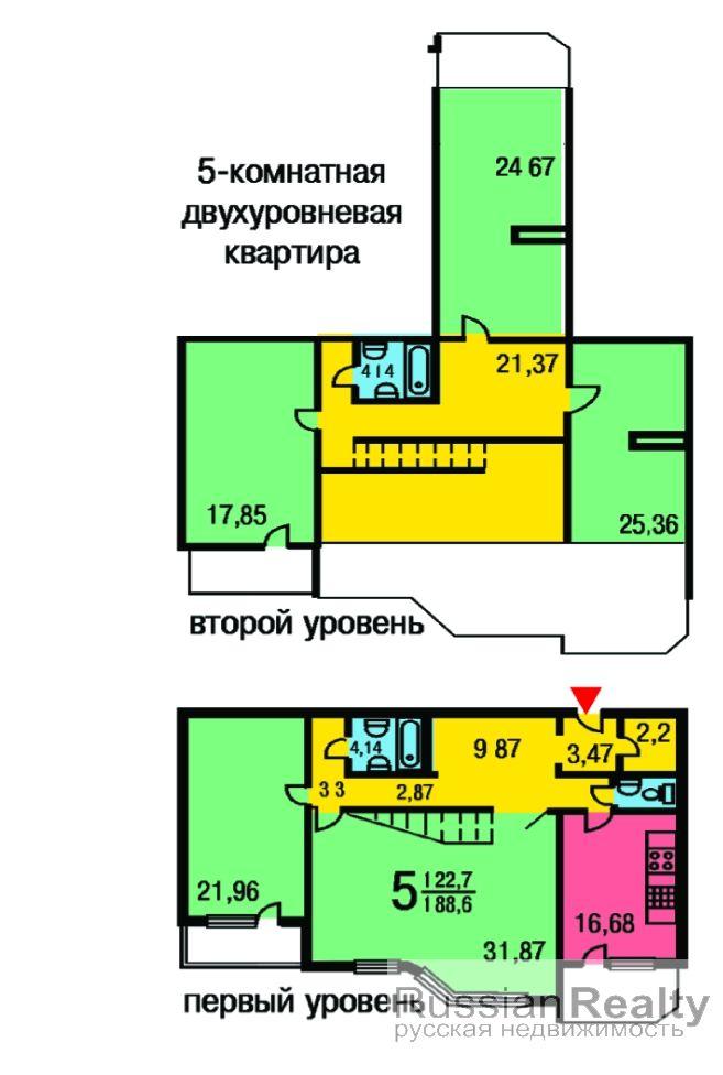 начала нужно картинки планировки 5 комнатной квартиры грибной