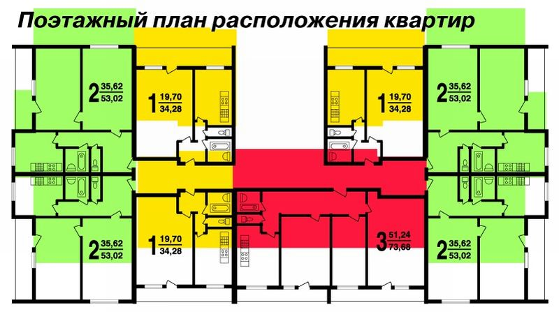 Башня вулыха планировки квартир с размерами